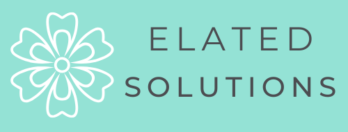 Elated. Solution web design teal logo